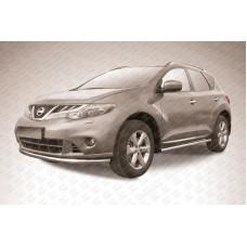 Защита переднего бампера d57 Nissan Murano (2011)