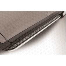 Пороги d42 с листом Suzuki SX-4 (2014)