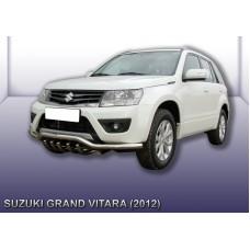 Защита переднего бампера d57 с защитой картера Suzuki Grand Vitara (2012)