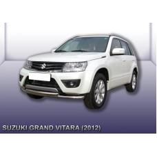 Защита переднего бампера d57+d57 двойная Suzuki Grand Vitara (2012)