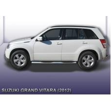 Пороги d76 с проступями Suzuki Grand Vitara (2012)