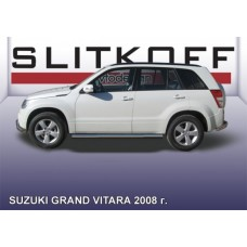 Пороги d76 труба Suzuki Grand Vitara (2008)