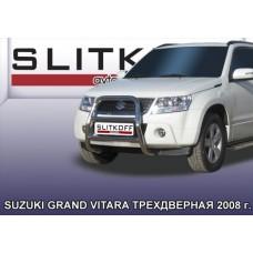 Кенгурятник высокий d57 Suzuki Grand Vitara (трехдверная 2008)