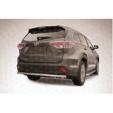 Защита заднего бампера d57 радиусная Toyota Highlander (2014)
