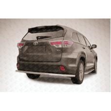 Защита заднего бампера d57 длинная Toyota Highlander (2014)