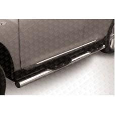 Пороги d76 с проступями Toyota Highlander (2010)