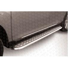 Пороги d57 с листом Toyota Highlander (2010)