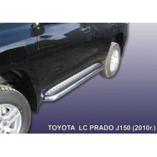 Пороги d76 с листом Toyota Land Cruiser Prado (2010)