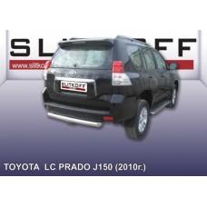 Защита заднего бампера d76 короткая Toyota Land Cruiser Prado (2010)