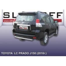 Защита заднего бампера d57 короткая Toyota Land Cruiser Prado (2010)