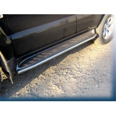 Защита штатного порога d42 Toyota Land Cruiser Prado (2003)