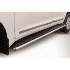 Защита штатного порога d57 Toyota Land Cruiser 200 (2012)