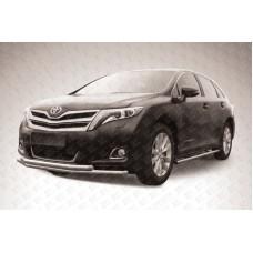 Защита переднего бампера d57+d57 двойная Toyota Venza (2013)