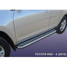 Пороги d57 с листом Toyota RAV-4 (2010)