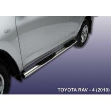 Пороги d76 с проступями Toyota RAV-4 (2010)