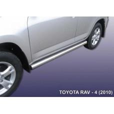 Пороги d76 труба Toyota RAV-4 (2010)