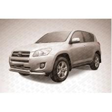 Защита переднего бампера d76+d57 двойная Toyota RAV4 (2009)