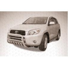 Кенгурятник низкий d57 c защитой картера Toyota RAV-4 (2006)