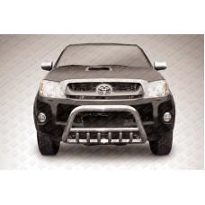 Кенгурятник низкий d57 с защитой картера Toyota Hilux