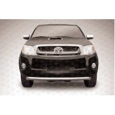 Защита переднего бампера d76 радиусная Toyota Hilux