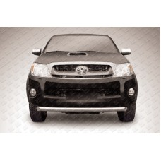 Защита переднего бампера d57 радиусная Toyota Hilux