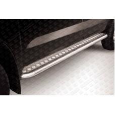 Пороги d57 c листом Toyota Hilux