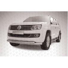 Защита переднего бампера d76+d57 двойная радиусная Volkswagen Amarok (2013)