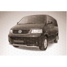 Защита переднего бампера d57+d57 двойная Volkswagen Multivan