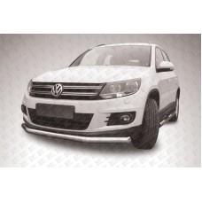 Защита переднего бампера d76 Volkswagen Tiguan (2011)