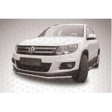 Защита переднего бампера d57 Volkswagen Tiguan (2011)