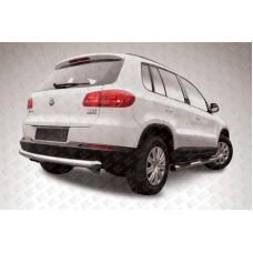 Защита заднего бампера d76 радиусная Volkswagen Tiguan (2011)