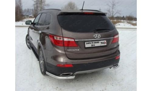 Защита задняя (уголки) 60,3 мм код HYUNSFGR14-14 на Hyundai Santa Fe Grand (2013-2016)