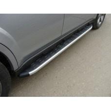 Пороги алюминиевые с пластиковой накладкой код SUBOUT14-06AL