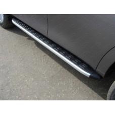 Пороги алюминиевые с пластиковой накладкой код NISPATR14-11AL