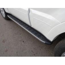 Пороги алюминиевые с пластиковой накладкой (карбон серые) 1820 мм код MITPAJ414-17GR