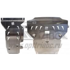 Защита картера двигателя и кпп BMW X3 V-все (2011-)/BMW X4 V-все (2014-) из 2-х частей (Алюминий 4 м