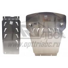 Защита картера двигателя и кпп BMW X5 V-3,5; 4,0; 5,0; 3,0TD, X5 M-пакет(10.2013-)/X6 V-все, кроме 5
