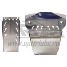 Защита картера двигателя и кпп BMW X5 V-3,5; 5,0; 3,0TD (2011-10.2013)  из 2-х частей, с пыльниками