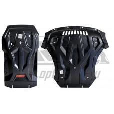 Защита картера двигателя и кпп BMW X5M (2013-)/X6M (2014-) , из 2-х частей(Композит 8 мм)