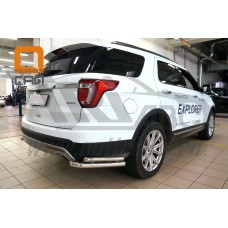 Защита заднего бампера Ford Explorer (2015-) (уголки) d60/42