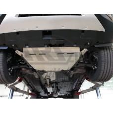 Защита днища Honda CR-V; V-2,4 (2015-) из 3 частей (Алюминий 4 мм)