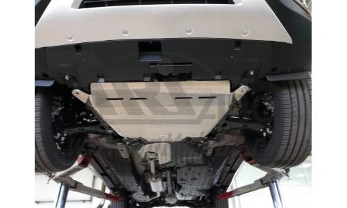 Защита днища Honda CR-V; V-2,4 (2015-) из 3 частей (Алюминий 4 мм) на Honda CR-V (2015-2017)
