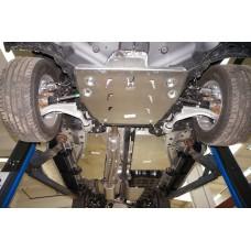 Защита днища Honda Pilot V-3,5 (2011-) из 4 частей (Алюминий 4 мм)
