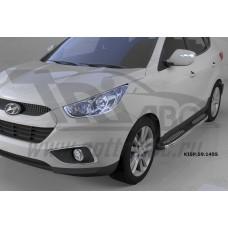 Пороги алюминиевые (Zirkon) Hyundai IX-35 (2009-2015)/ Kia Sportage (Киа Спортаж) III (2010-2016)