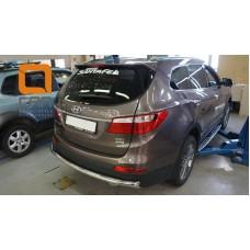 Защита заднего бампера Hyundai Grand SantaFe (2013-) (одинарная) d60