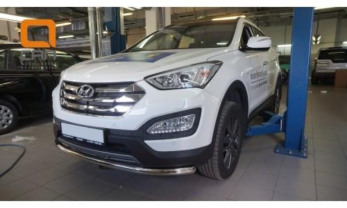 Защита переднего бампера Hyundai Grand SantaFe (2013-) (одинарная) d60 (несовместима с защитой карте на Hyundai Santa Fe Grand (2013-2016)