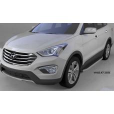 Пороги алюминиевые (Alyans) Hyundai Grand Santa Fe (2013-)