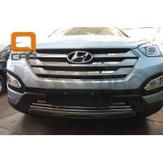 Решетка переднего бампера Hyundai Santa Fe (2012-2015)