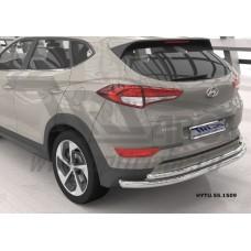 Защита заднего бампера Hyundai Tucson (2015-) (двойная) d60/42 кроме High-tech*