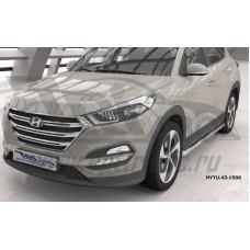 Защита штатных порогов Hyundai Tucson (2015-) d 60*